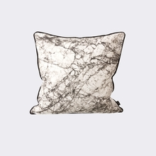 Marble Throw Pillow in Grey