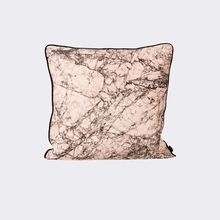 Marble Throw Pillow in Rose