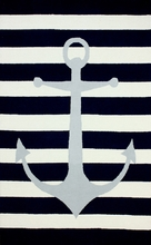 Marigot Anchor Rug in Blue