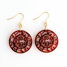 Marilyn Chandelier Acrylic Monogram Earrings