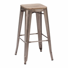 Marius Bar Chair Rustic Wood