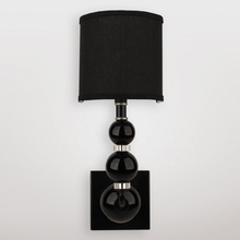 Mars Black Crystal Sphere Wall Sconce