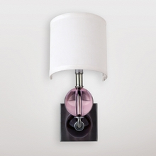 Mars Pink Crystal Sphere Wall Sconce