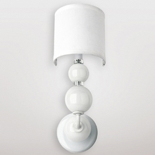 Mars White Crystal Sphere Wall Sconce