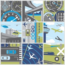 Max Transit Transportation Collage Canvas Wall Art