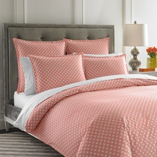On Sale Mayfair Coral Duvet Cover - Full/Queen
