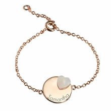 Medal Heart Lovely Bracelet in Gold Plated