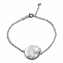 Medal Heart Lovely Bracelet in Silver