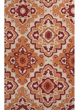 Medallion Rug in Orange