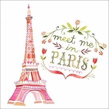 Meet Me In Paris Canvas Wall Art