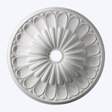 Melon Reed Ceiling Medallion in White