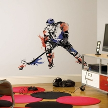 Men's Hockey Champion Peel and Stick Giant Wall Decals