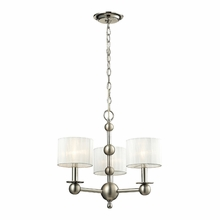 Meridian Chandelier In Polished Nickel/Matte Nickel