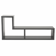 Mervin Media Stand in Gray Lacquer