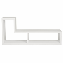 Mervin Media Stand in White Lacquer
