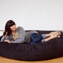 Microsuede Black Cocoon Saxx Bean Bag - 6 Feet