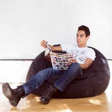 Microsuede Black Game Saxx Bean Bag - 4 Feet