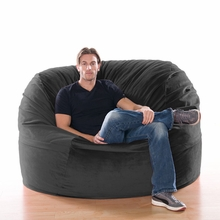 Microsuede Black Metro Saxx Bean Bag - 5 Feet