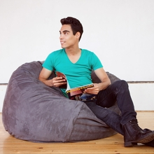 Microsuede Charcoal Game Saxx Bean Bag - 4 Feet