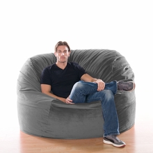 Microsuede Charcoal Metro Saxx Bean Bag - 5 Feet