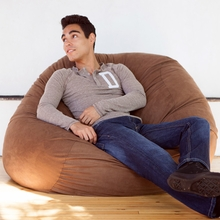 Microsuede Chocolate Game Saxx Bean Bag - 4 Feet