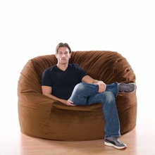 Microsuede Chocolate Metro Saxx Bean Bag - 5 Feet