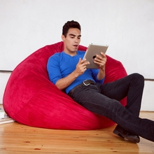 Microsuede Cinnabar Game Saxx Bean Bag - 4 Feet