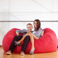 Microsuede Cinnabar Sofa Saxx Bean Bag - 6 Feet