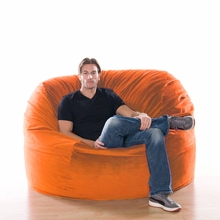 Microsuede Orange Metro Saxx Bean Bag - 5 Feet