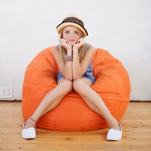 Microsuede Orange Mini Saxx Bean Bag - 3 Feet