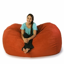 Microsuede Orange Sofa Saxx Bean Bag - 6 Feet
