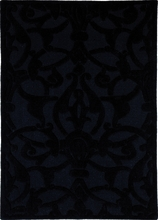 Midnight Damask Rug in Black