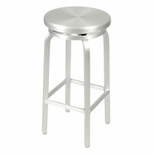 Miller Bar Swivel Stool in Matte Aluminum