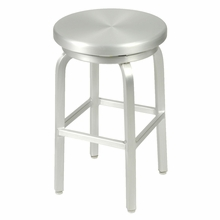 Miller Counter Swivel Stool in Matte Aluminum