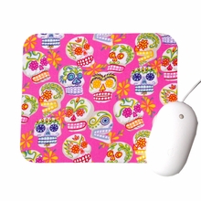 Mini Sugar Skull Pink Mouse Pad