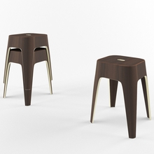 Minimal Stacking Stool - Set of 2