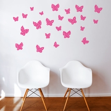 Minna Butterfly in Pink Wall Decal