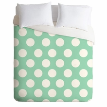 Mintiest Polka Dots Lightweight Duvet Cover