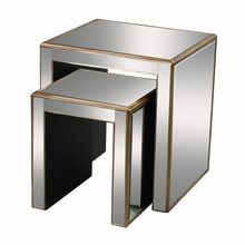 Mirror and Gold Stacking Tables