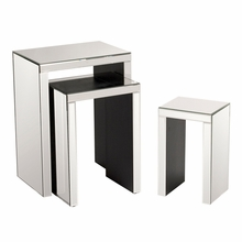 Mirrored Accent Nesting Tables