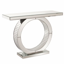 Mirrored Console Table with Circular Base