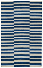 Mixed Stripes Nomad Rug in Navy