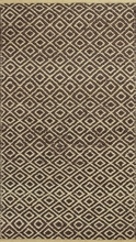 Mocha Diamonds Flat Weave Rug