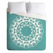 Mod Medallion Aqua Lightweight Duvet Cover