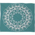 Mod Medallion Aqua Fleece Throw Blanket