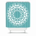 Mod Medallion Aqua Shower Curtain