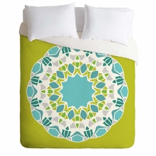 Mod Medallion Green Lightweight Duvet Cover