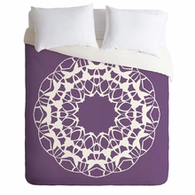 Mod Medallion Plum Lightweight Duvet Cover