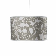 Modern Berries Motif Large Cylinder Pendant Light in Taupe