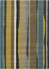 Modern Stripes Rug in Blue